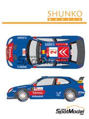 Shunko Models: Calcas escala 1/24 - Citroen Xsara WRC Gauloises Nº 1, 2 - Sebastien Loeb (FR) + Daniel Elena (MC), Daniel