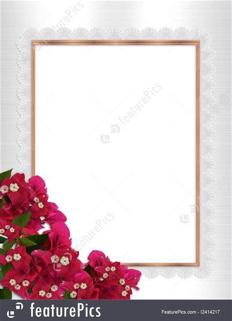 Illustration Of Floral Border Bougainvillea Gold Frame