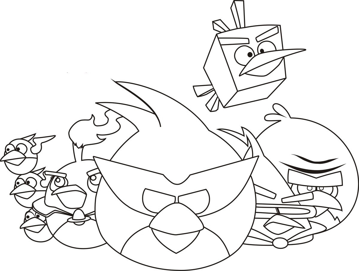 Transformers Angry Birds Coloring Pages At Getdrawingscom Free
