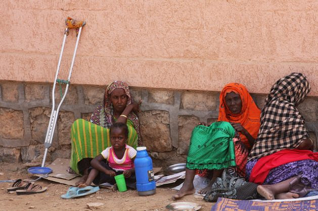 Displaced Somali at a camp on the outskirts of the city of Dire Dawa in eastern Ethiopia. Credit: James Jeffrey/IPS