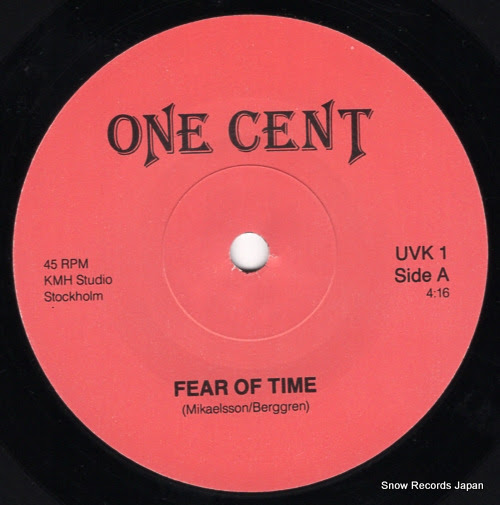 ONE CENT - fear of time - UVK1