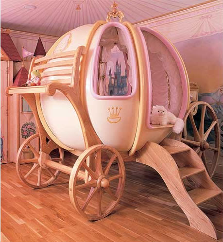 Cinderella Pumpkin Carriage Bed. - Neatorama