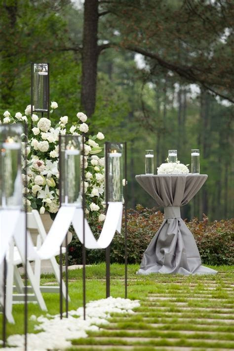 Candles.. Aisle decor. Elegant botanical garden ceremony