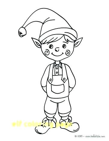 elf on the shelf coloring pages to print at getdrawings