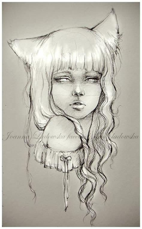 fox girl  ladowska  deviantart  love  drawling