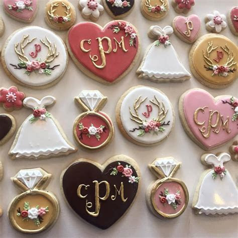 Rustic Dusty Rose Bridal Shower Cookie Set   Hayley Cakes