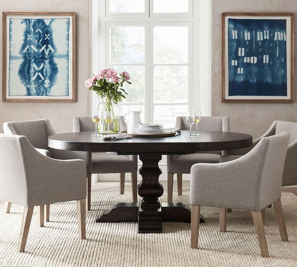 Banks Extending Pedestal Dining Table | Pottery Barn CA