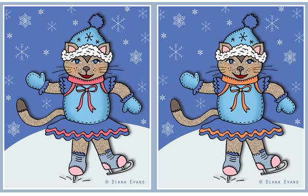 skating cats together