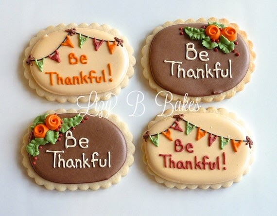 12 'Be Thankful' Cookies for Thanksgiving