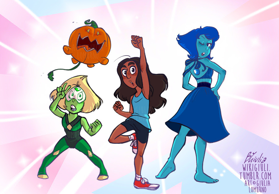 We are the Crystal Temps! XD (panel redraw from SU, obviously)