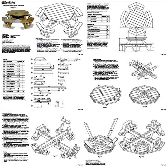 woodworking p Looking for Octagon picnic table plans and drawings – Octagon Patio Table Plans