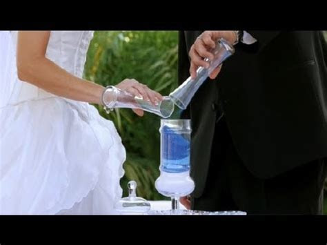 How to Perform a Sand Ceremony : Wedding Planning   YouTube