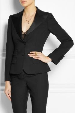 Dolce and Gabbana Wool and Silk Tuxedo Jacket