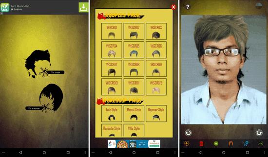 Aplikasi Gaya Rambut Android