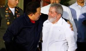 Chávez y Lula en Caracas