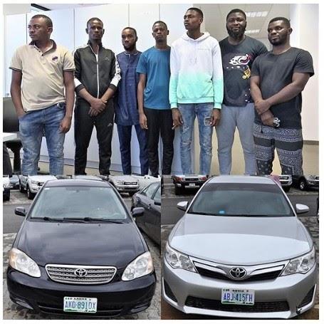 EFCC Arrests Seven Internet Fraudsters In Gwarimpa, Abuja