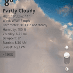 goweather 2 150x150 Go Weather, información metoreológica, widgets y animaciones espectaculares