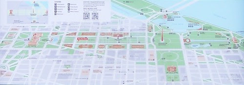 National Mall map (cropped from a wayfinding sign)