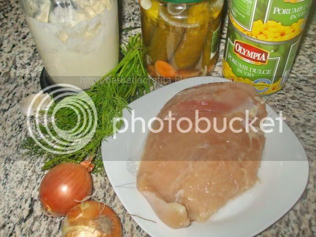 Salata de pui si porumb ingrediente reteta
