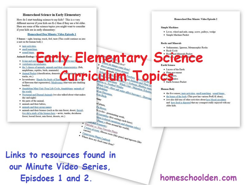 Science Units - Homeschool Den