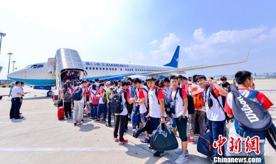 A specially chartered Xiamen Airlines plane brought this special, first batch of students to Kuala Lumpur.