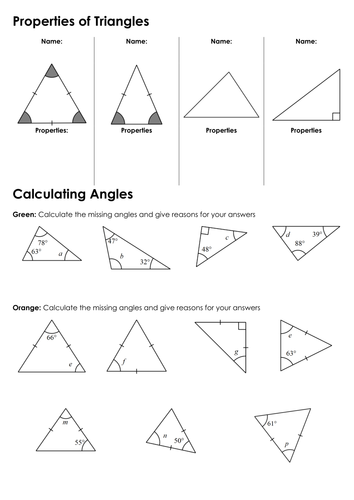 Interior And exterior Angles Of Triangles And Quadrilaterals