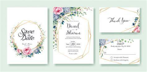 Wedding invitation card template Vector   Premium Download