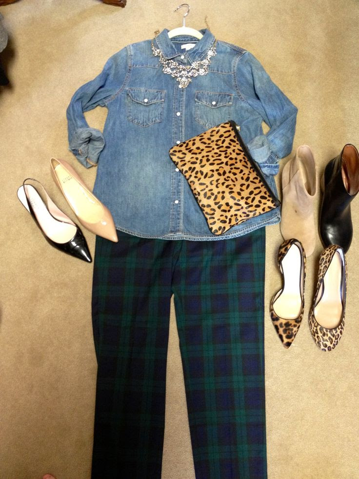 Plaid and Leopard for fall