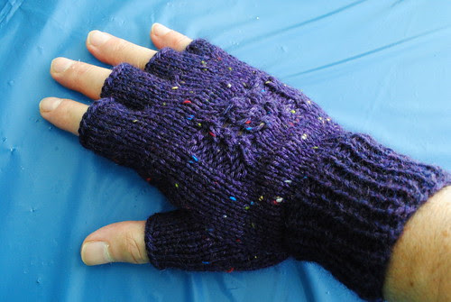 Purple Mittens by Crafty Andy