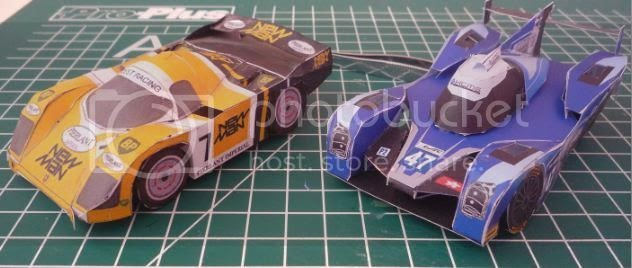 Papermau le mans racing vehicles paper models in sd style for Papercraft lancia