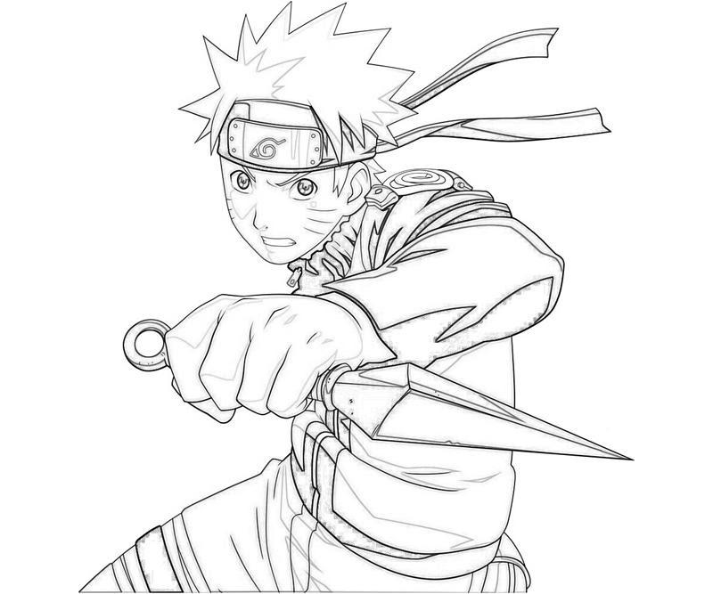 Naruto Para Colorear Pintar E Imprimir