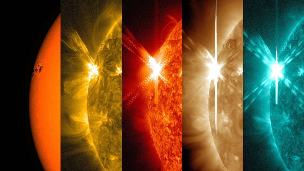 SDO views of 5 May 2015 X-class flare