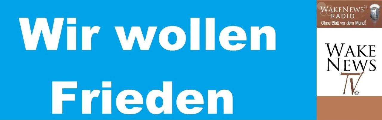 Wir wollen Frieden + Logo