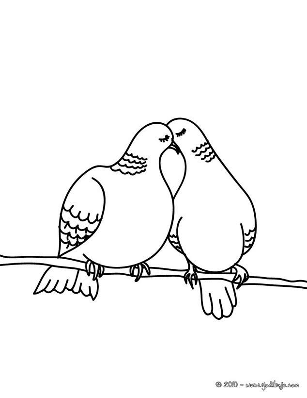 Dibujos Para Colorear Palomas En Una Rama Eshellokidscom