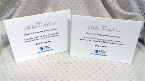 Wedding Favours   St. James's Hospital Foundation