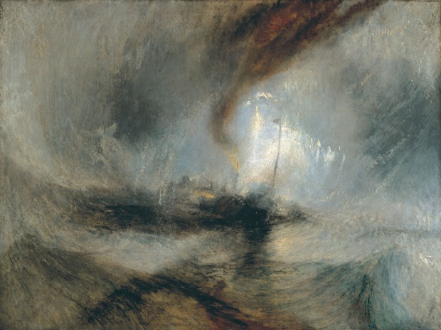 Snow Storm - Steam-Boat off a Harbour's Mouth exhibited 1842.