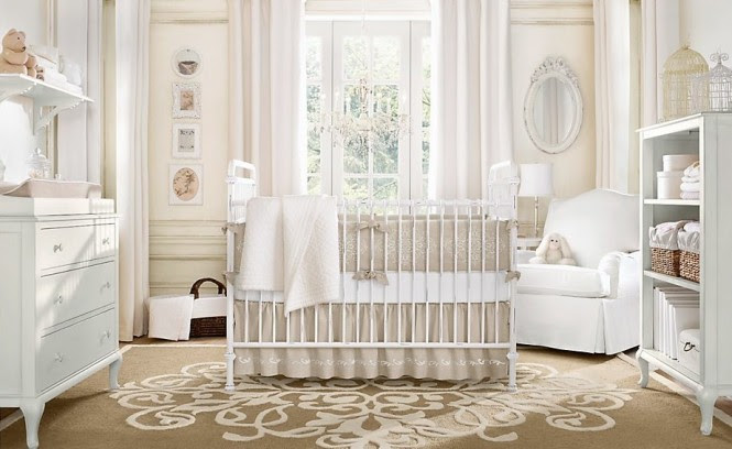 Neutral color baby room design