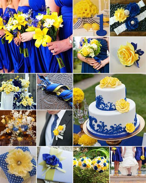 Blue and Yellow Weddings