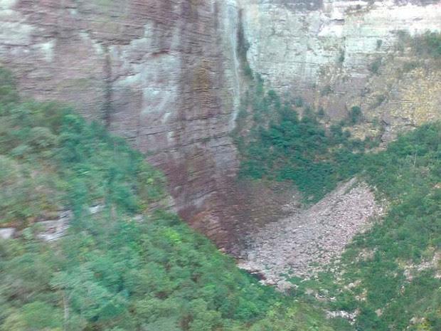 Local onde Corpo de Bombeiros encontrou corpo de turista na Chapada Diamantina  (Foto: Divulgação/Corpo de Bombeiros Militar)
