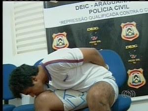 Eric Pitter é suspeito de matar ex-vice-prefeito de Ananás (Foto: Reprodução/TV Anhanguera)