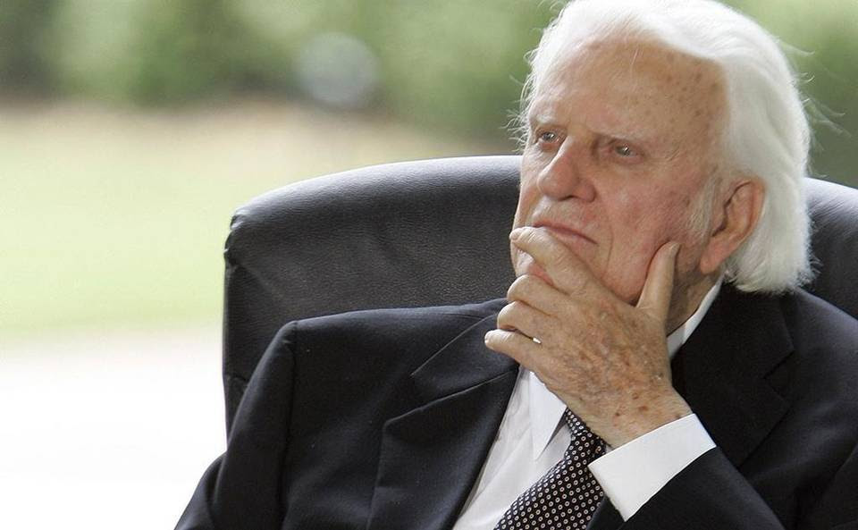 ** FILE ** In this May 31, 2007 file photo, Billy Graham listens during a dedication ceremony for the Billy Graham Library in Charlotte, N.C. (AP Photo/Gerry Broome, File)