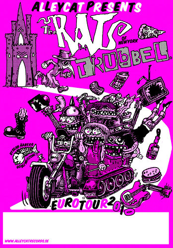 The Rats NYC & Trubbel Euro Tour 2010 Poster