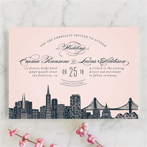 Big City   San Francisco Wedding Invitation Petite Cards