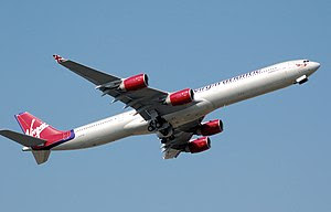An Airbus A340-600 of Virgin Atlantic Airways....