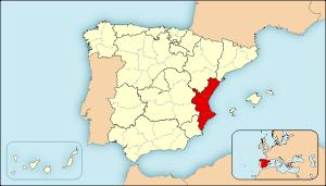 Ejemplo de mapas de localización para España. ...