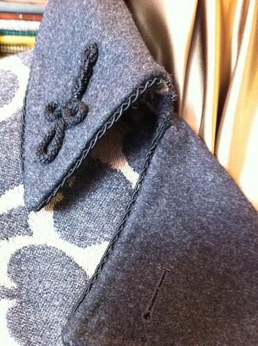 Welsh & Jefferies ladies overcoat detail