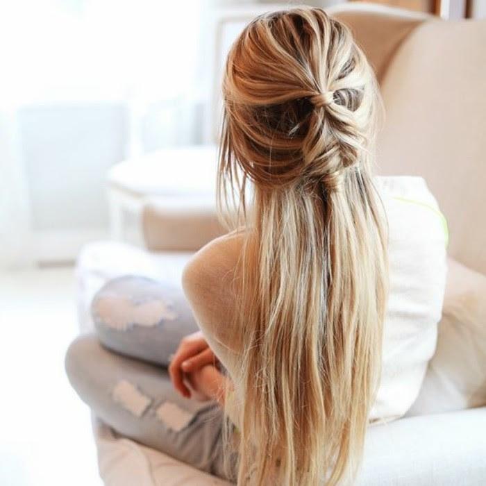 Idée Coiffure Cheveux Mi Long Facile Et Rapide Chignon