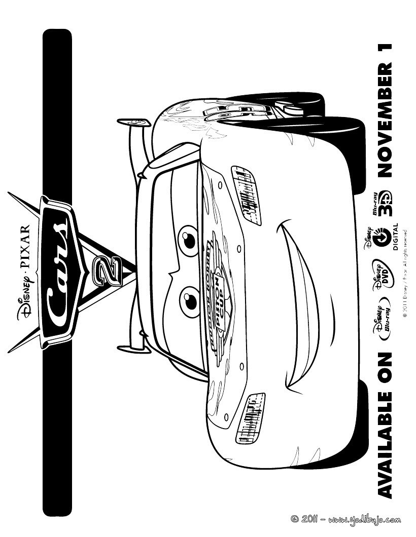 Dibujos Para Colorear De Cars 16 Paginas Disney Para Imprimir