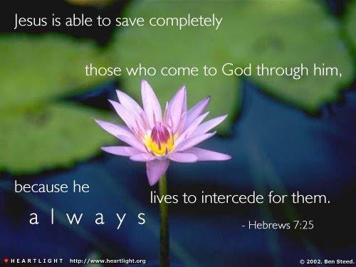 Inspirational illustration of Hebrews 7:25