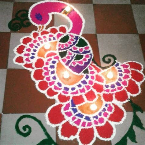 30 Photos of Easy Rangoli Designs & Patterns for Diwali 2019